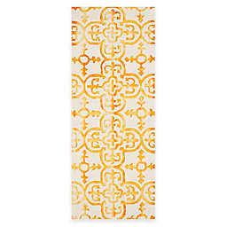 Safavieh Dip Dye Clover 2-Foot 3-Inch x 12-Foot Runner in Ivory/Gold