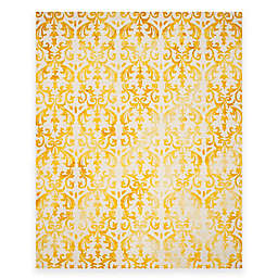 Safavieh Dip Dye Damask Stripe 8-Foot x 12-Foot Area Rug in Ivory/Gold