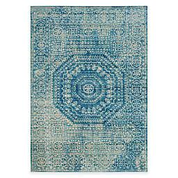 Safavieh Valencia Center Medallion 4-Foot x 6-Foot Area Rug in Blue Multi