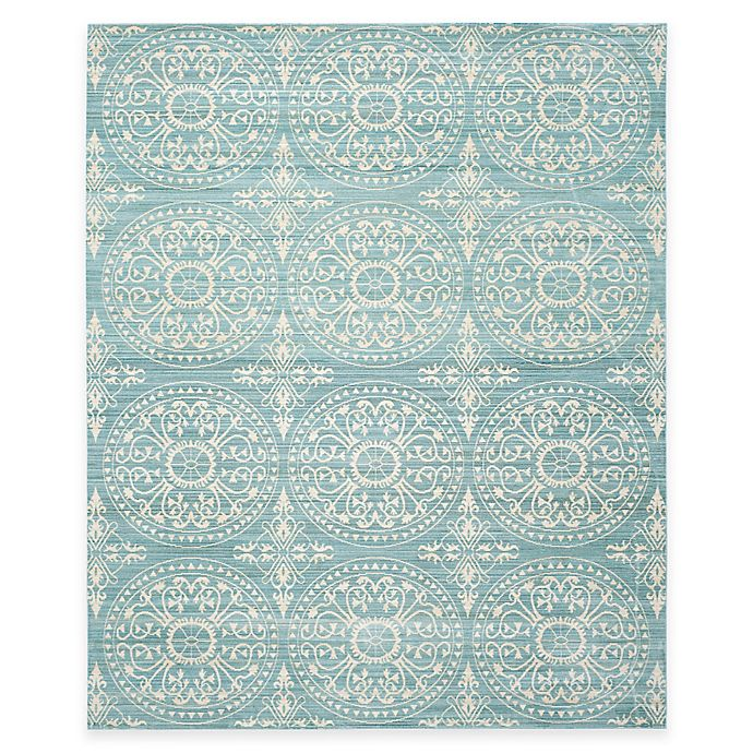 Alternate image 1 for Safavieh Valencia Medallion 8-Foot x 10-Foot Area Rug in Green/Ivory