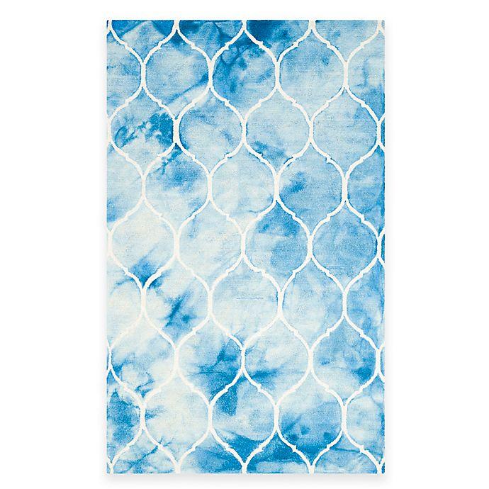 Alternate image 1 for Safavieh Dip Dye Lattice 5-Foot x 8-Foot Area Rug in Blue/Ivory