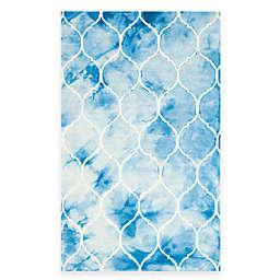 Safavieh Dip Dye Lattice 5-Foot x 8-Foot Area Rug in Blue/Ivory