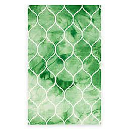 Safavieh Dip Dye Lattice 5-Foot x 8-Foot Area Rug in Green/Ivory