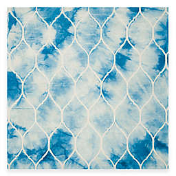 Safavieh Dip Dye Lattice 7-Foot Square Area Rug in Blue/Ivory