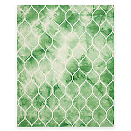 Safavieh Dip Dye Lattice 8-Foot x 10-Foot Area Rug in Green/Ivory