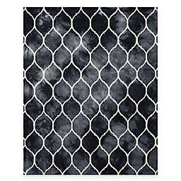 Safavieh Dip Dye Lattice 8-Foot x 10-Foot Area Rug in Graphite/Ivory