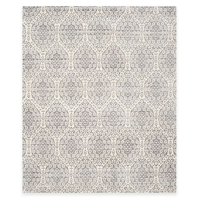 Alternate image 1 for Safavieh Valencia Damask 9-Foot x 12-Foot Area Rug in Mauve/Cream