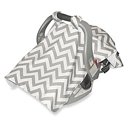 Jolly Jumper® Infant Car Seat Veil in Chevron Grey