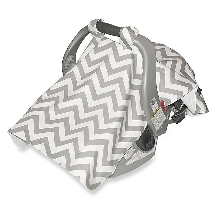 Swell Jolly Jumper Infant Car Seat Veil In Chevron Grey Bed Uwap Interior Chair Design Uwaporg