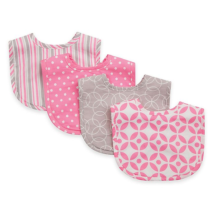 Alternate image 1 for Trend Lab 4-Pack Lilly Bouquet Bib Set in Pink