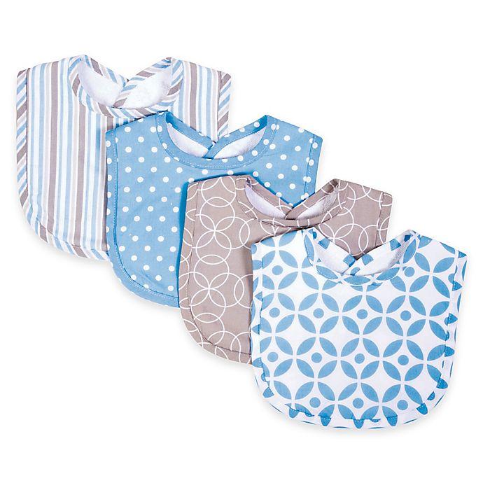 Alternate image 1 for Trend Lab® 4-Pack Logan Bib Set in Blue