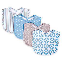 Trend Lab® 4-Pack Logan Bib Set in Blue