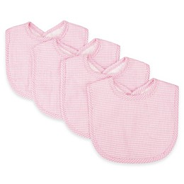 Trend Lab® 4-Pack Gingham Seersucker Bib Set in Pink