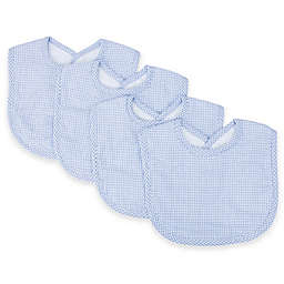 Trend Lab® 4-Pack Gingham Seersucker Bib Set in Blue/White