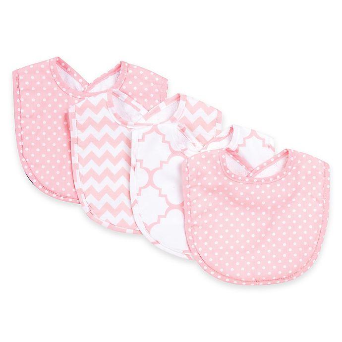 Alternate image 1 for Trend Lab® 4-Pack Pink Sky Bib Set