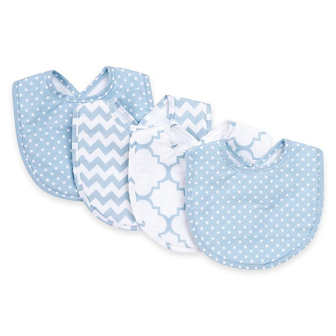 Alternate image 1 for Trend Lab® 4-Pack Blue Sky Bib Set