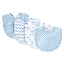 Trend Lab® 4-Pack Blue Sky Bib Set