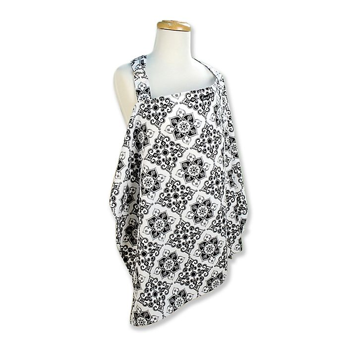 Alternate image 1 for Trend Lab® Versailles Nursing Cover in Black/White
