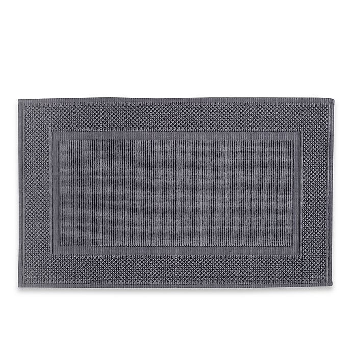 Alternate image 1 for Jacquard Ring-Spun 20-Inch x 33-Inch Bath Rug in Charcoal