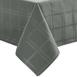 Origins™ Microfiber 60-Inch x 84-Inch Oval Tablecloth in Charcoal
