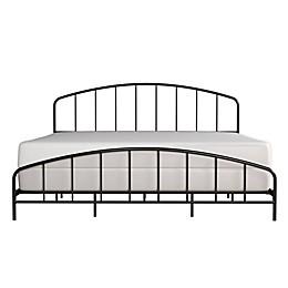 Hillsdale Furniture Tolland Metal Bed Frame in Black Satin