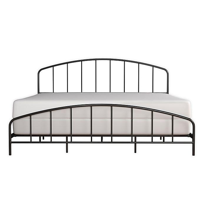 Alternate image 1 for Hillsdale Furniture Tolland King Metal Bed Frame in Black Satin