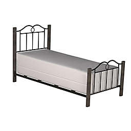Hillsdale Furniture Dumont Twin Metal Bed with Wood Posts in Black