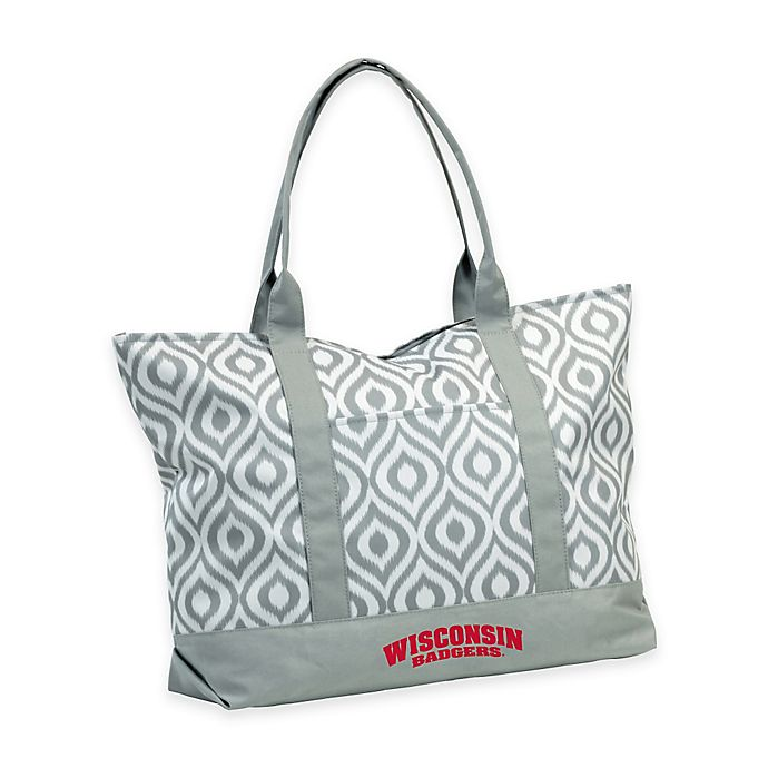 Alternate image 1 for University of Wisconsin Ikat Tote