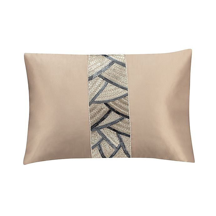 Alternate image 1 for Valeron Ambroise Beaded Oblong Throw Pillow in Gold