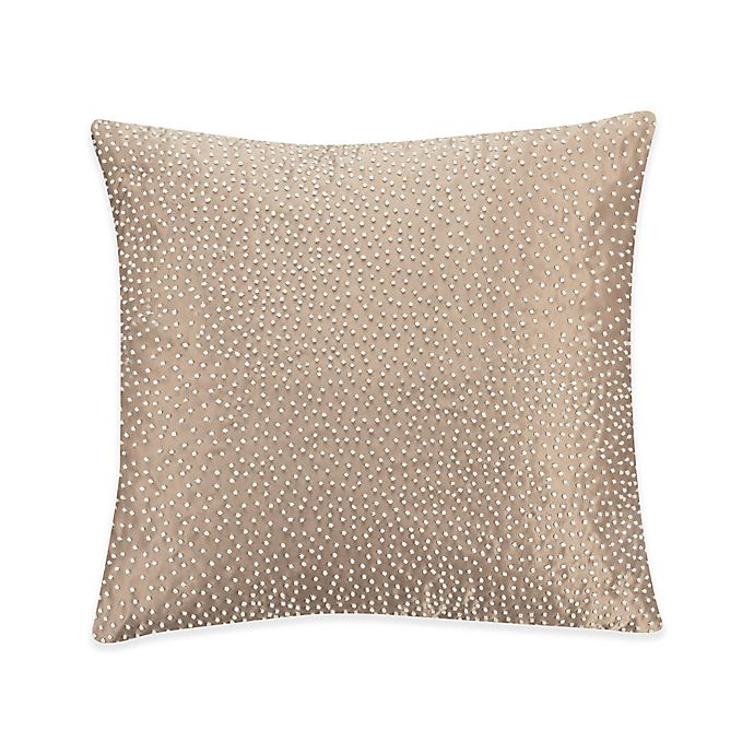 Alternate image 1 for Valeron Ambroise Pin Dot Square Throw Pillow in Gold