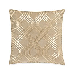 Valeron Ambroise Trellis Square Throw Pillow in Gold