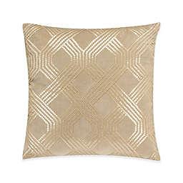 Valeron Ambroise Trellis Square Throw Pillow in Gold