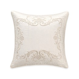 Valeron Ambroise Embroidered Throw Pillow in Ivory