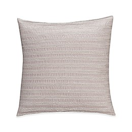 Valeron Gizmon Embroidered Stripe Throw Pillow in Grey