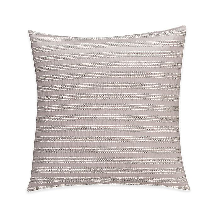 Alternate image 1 for Valeron Gizmon Embroidered Stripe Throw Pillow in Grey