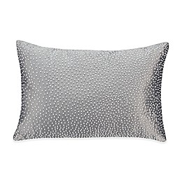 Valeron Fiesol Pin Dot Oblong Throw Pillow in Grey