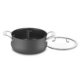 Cuisinart® Nonstick 5 qt. Silhouette Hard Anodized Covered Dutch Oven in Grey