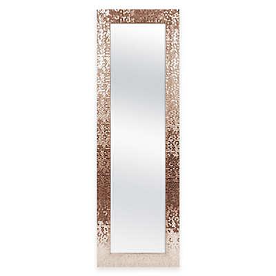 Door Solutions™ 53-Inch x 17-Inch  Rectangular Sequin Over-the-Door Mirror in Copper