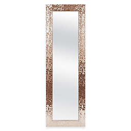 Door Solutions™ 53-Inch x 17-Inch  Rectangular Sequin Over-the-Door Mirror in Copper