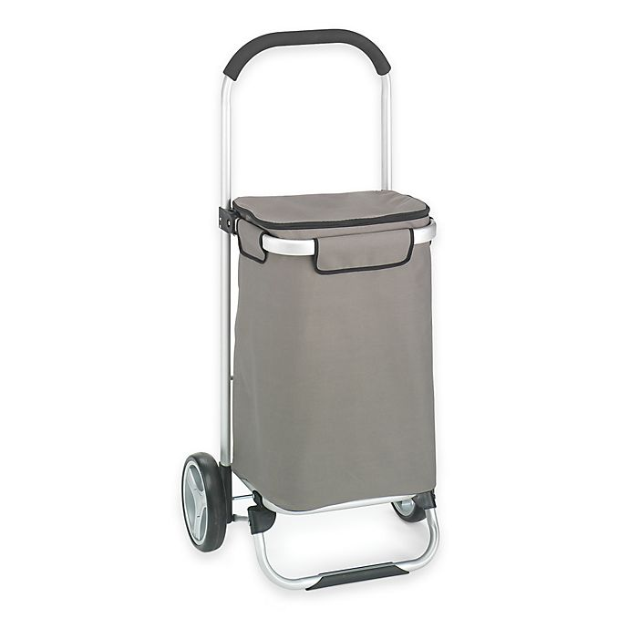Alternate image 1 for Folding Shopping Tote Cart in Grey