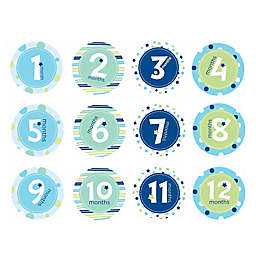 Pearhead Baby Boy First Year Belly Stickers