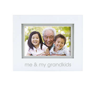 "Pearhead® ""Grandkids"" 4-Inch x 6-Inch Picture Frame in White"