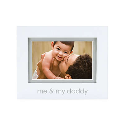 "Pearhead® ""Me and My Daddy"" 4-Inch x 6-Inch Picture Frame in White"