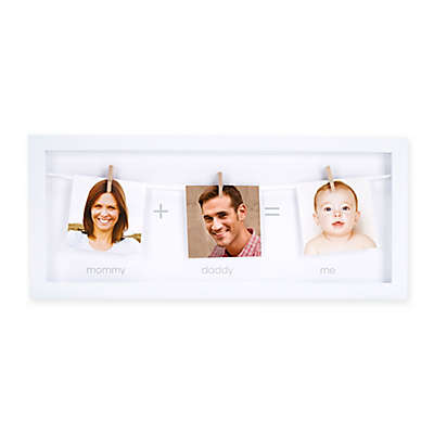 Pearhead® 3-Photo Clothespin Family Picture Frame in White