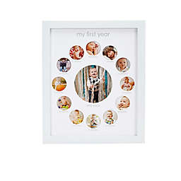 "Pearhead® ""My First Year"" 13-Photo Collage Frame in White"