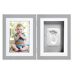 Pearhead® Babyprints 4-Inch x 6-Inch Desk Frame in Grey