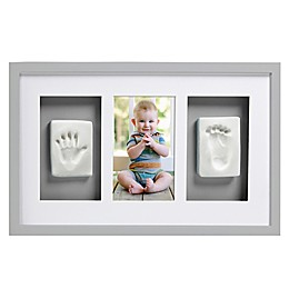 Pearhead® Babyprints 4-Inch x 6-Inch Deluxe Wall Frame in Grey