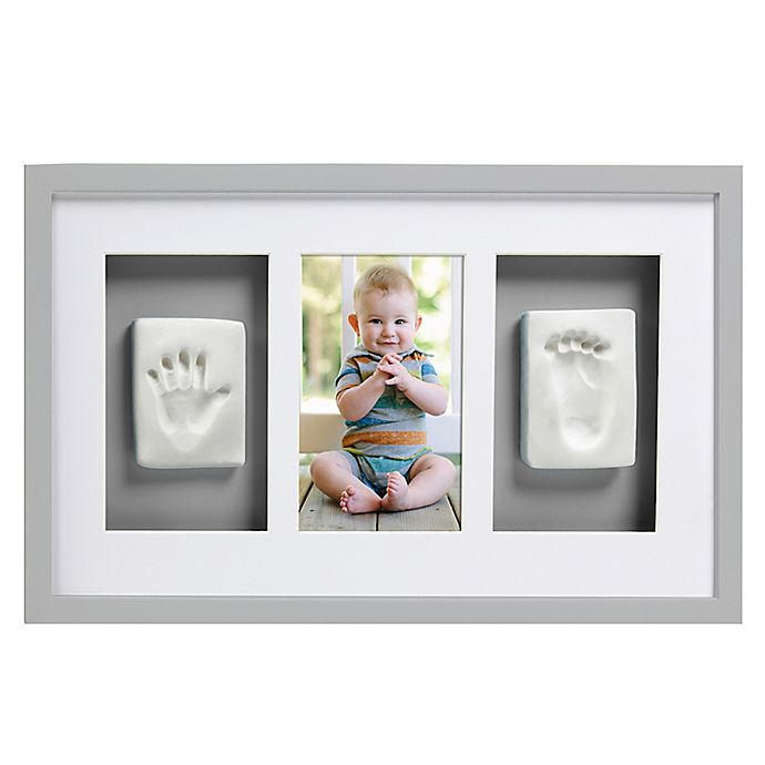 Alternate image 1 for Pearhead® Babyprints 4-Inch x 6-Inch Deluxe Wall Frame in Grey