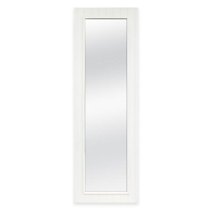 Alternate image 1 for Door Solutions™ 53.5-Inch x 17.5-Inch Wainscot Rectangular Over-the-Door Mirror in White