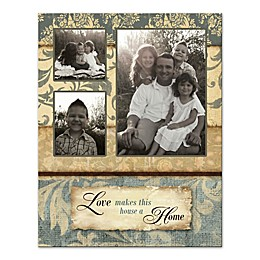 Love Makes This House a Home Photo Collage Canvas Wall Art